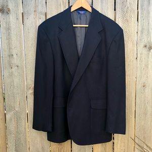 Pendleton   Vintage Wool 2 Button Blazer in Navy